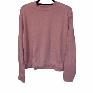 FABLETICS PINK OVERSIZED PULLOVER SWEATER SIZE LARGE